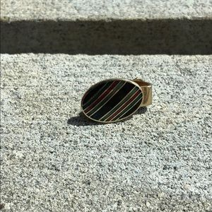 Other - Gold tie clip with gem inlays